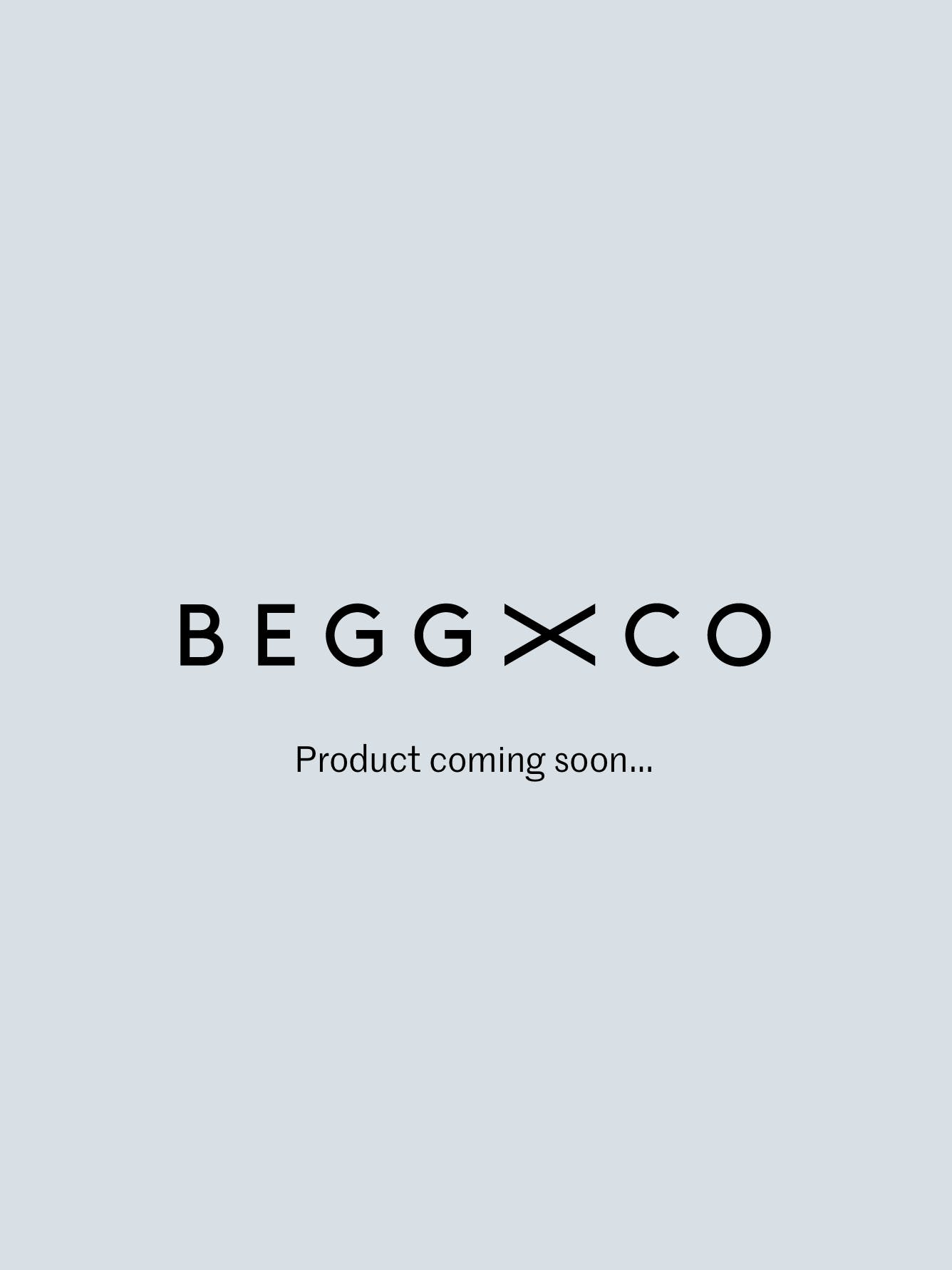 Mens Navy Brown Oversized Lambswool Angora Scarf | Begg x Co